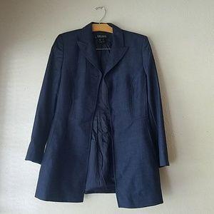 Navy wool escada blazer